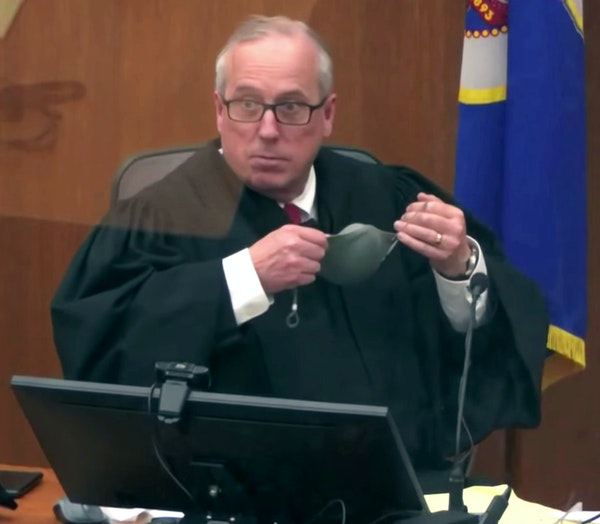 Hennepin County Judge Peter Cahill in an image taken from video. Cahill said he would recall the seven jurors seated to question them Wednesday about