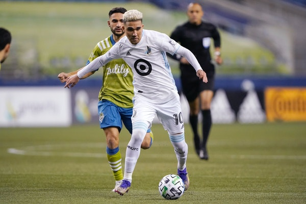 Minnesota United midfielder Emanuel Reynoso and his Loons teammates will return to Seattle, where their season ended last year, to play the Sounders i