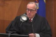 Hennepin County District Judge Peter Cahill presided over jury selection in the trial of Derek Chauvin on Wednesday.