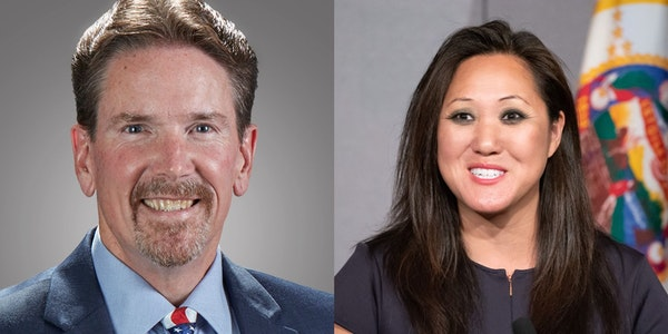 State Sen. Mark Koran and state Republican Party chairwoman Jennifer Carnahan are both running to lead the party.