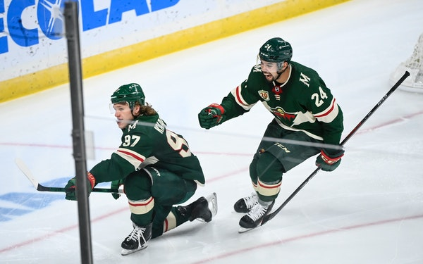 Minnesota Wild left wing Kirill Kaprizov lifted the Wild out of its power play slump on Wednesday in a win over Vegas.