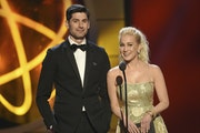 Kellie Pickler with her talk show co-host Ben Aaron at the 2019 Daytime Emmy Awards.