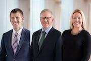 Brent Miller, Robert Thompson (center) and Heidi Lynch will manage Mairs & Power's new Minnesota Municipal Bond ETF.