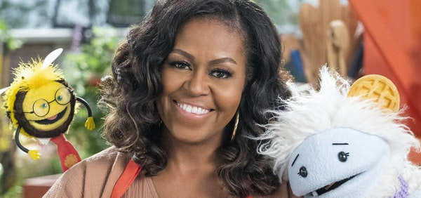 "Michelle Obama in ""Waffles + Mochi"" Netflix"