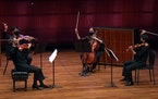 In a livestreamed St. Paul Chamber Orchestra concert last fall, violinists Steven Copes and Kyu-Young Kim, cellist Julie Albers and violist Maiya Papa