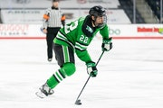 North Dakota's Shane Pinto has 15 goals and 13 assists in 23 games this season.