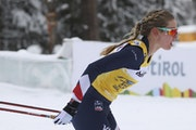 Jessie Diggins spent the winter achieving superlatives: first American to win the Tour de Ski, first American woman to win the overall World Cup cross