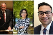 Three finalists have emerged in the search for Minnesota's next U.S. attorney: From left, Andrew Luger, who held the job from 2014 to 2017, and form