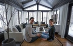 Instagram influencer Kate Chipinski and her husband Mike in their Northfield home.