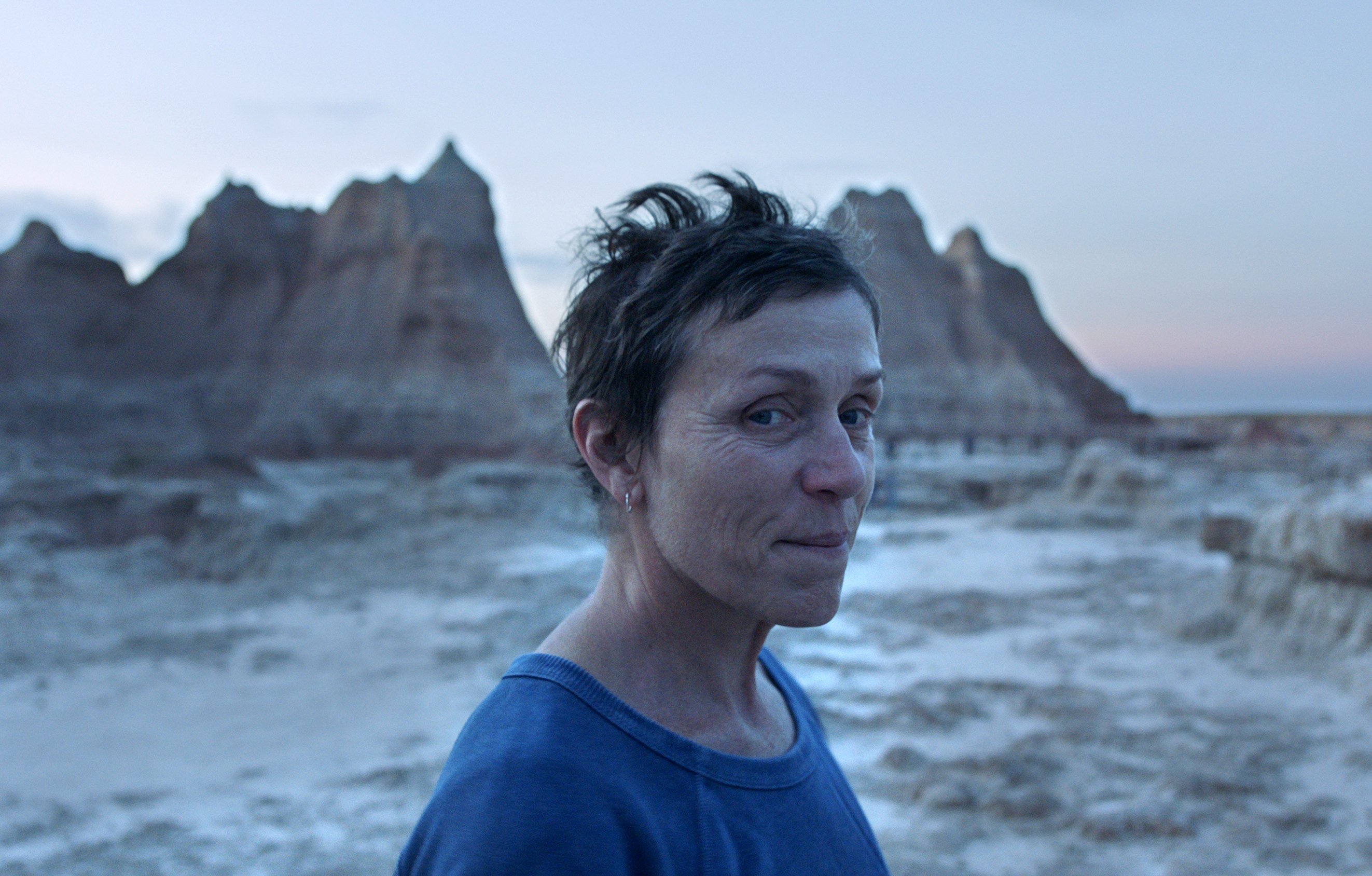 Frances McDormand in a scene from the film 'Nomadland.'