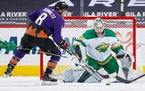 Cam Talbot will be back in net Friday for the Wild against the Coyotes.