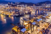 The Kwai Tsing Container Terminals in Hong Kong on April 7, 2020.