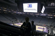 "Fans left the Golden 1 Center in Sacramento, Calif., after the Pelicans-Kings game on March 11, 2020 was postponed at the last minute over an ""abund"