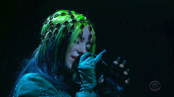 In this video grab provided by CBS and the Recording Academy, Billie Eilish performs at the 63rd annual Grammy Awards at the Los Angeles Convention Ce
