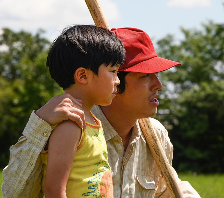 Steven Yeun (right) appears in 'Minari. with Alan Kim by Lee Isaac Chung.