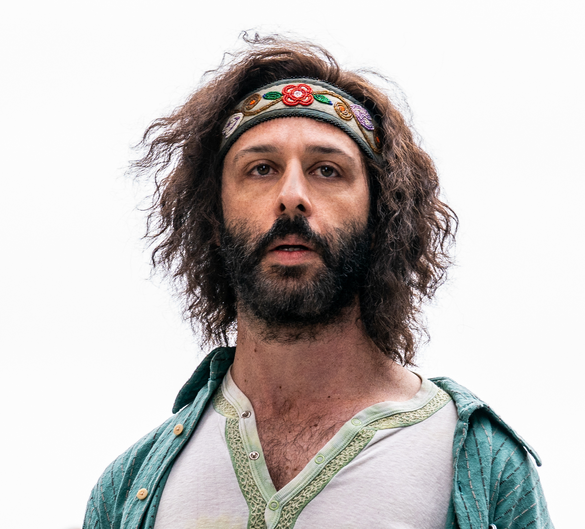 Jeremy Strong as Jerry Rubin in 'The Trial of the Chicago 7.'
