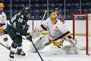 Gophers goalie Jack LaFontaine owns a nation's-best 20 victories this season.