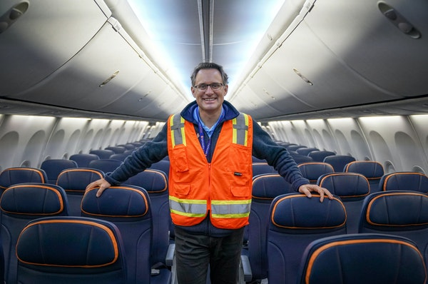 Under CEO Jude Bricker, Sun Country Airlines has solidified as a hybrid operator and significantly expanded its contract cargo business. aboard one of