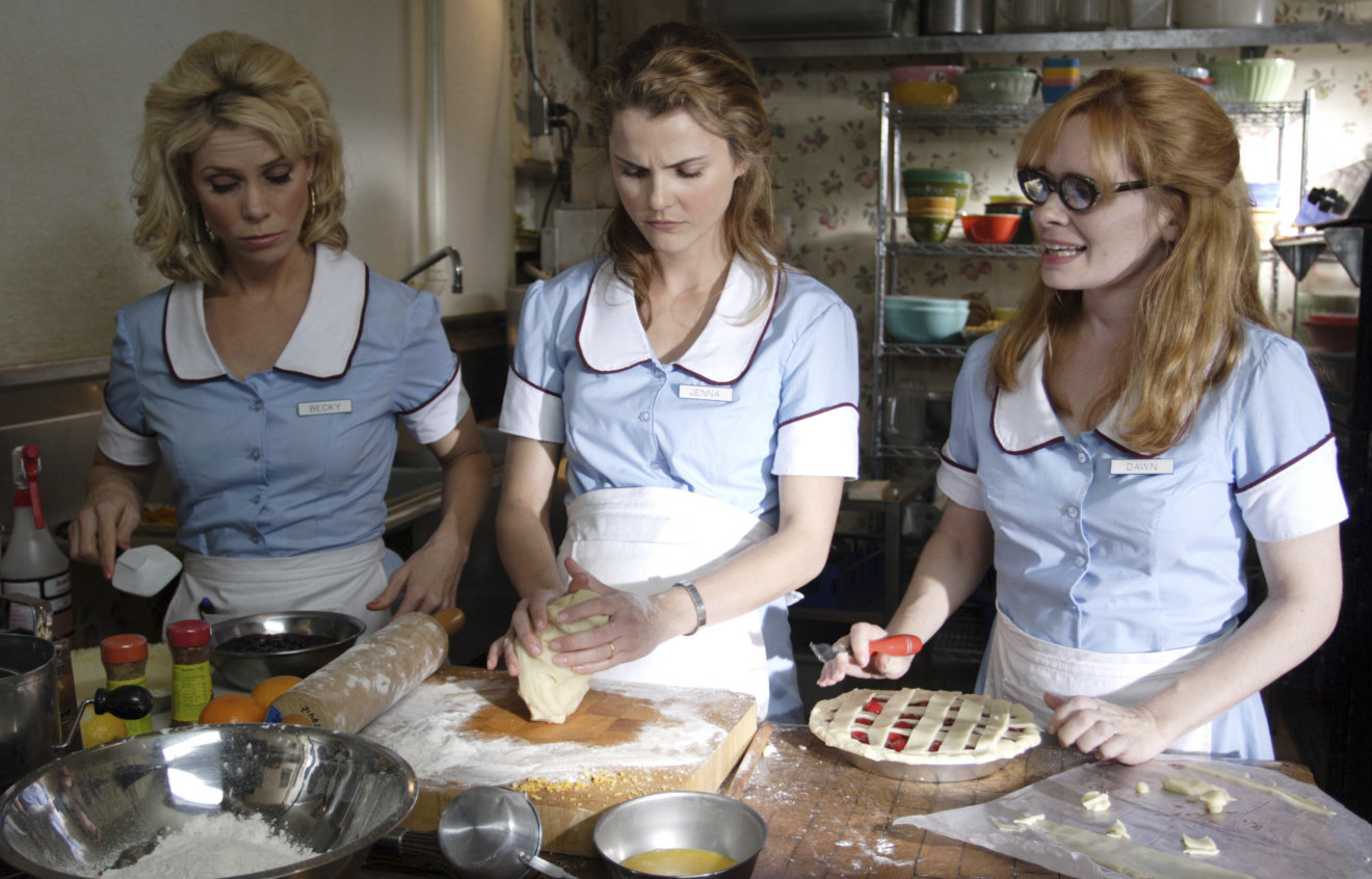 Cheryl Hines, Keri Russell and Adrienne Shelly in 'Waitress.'