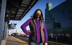 St. Paul City Council member Mitra Jalali posed for a portrait near her home and the Metro Transit Green Line in St. Paul.