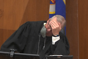 Hennepin County Judge Peter Cahill, in an image taken from video.