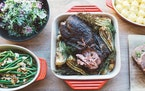 Credit: Libby AndersonSpoon and Stable and Animales Barbeque have teamed up for an Easter dinner takeout special.