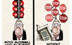 Sack cartoon: Mitch McConnell and the filibuster