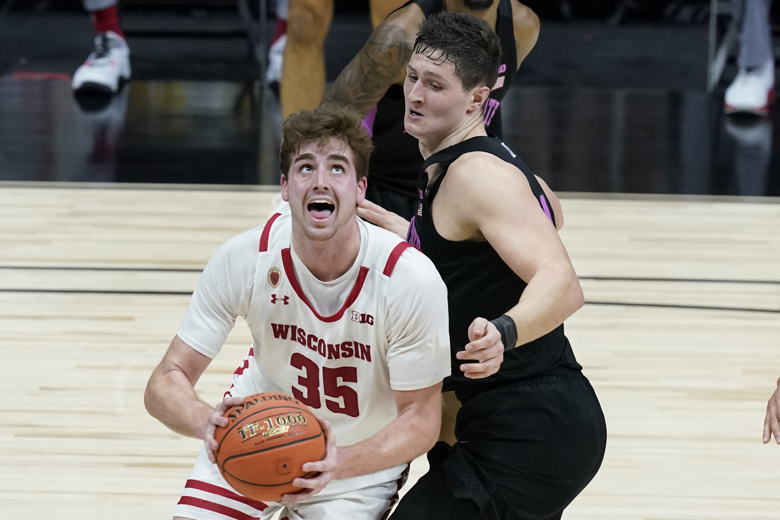 Wisconsin's Nate Reuvers.