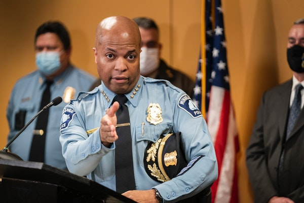 Minneapolis Police Chief Medaria Arradondo gave a stern warning that people who commit violence at 38th Street and Chicago Avenue will be arrested and