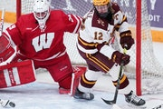 Gophers forward Grace Zumwinkle had 17 goals and seven assists this season.