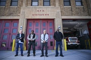 Former Minneapolis firefighters, from left, Mike Beaulieu, Skypp Lee, John Wong and Wayne Brown, all members of the department when it was desegregate