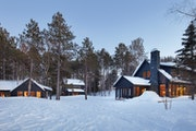 Two lifelong friends wanted a shared retreat to enjoy together and with their individual families. It was designed by Albertsson Hansen Architecture t