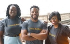 Yemi Adewunmi, Damola Ogundipe and Shawntera Hardy are co-founders of Civic Eagle, a Twin Cities-based software platform company feature in Google's