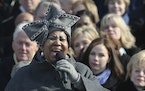 Aretha Franklin performed at the swearing-in ceremony for President Barack Obama in 2009..