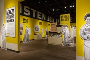 The Minnesota History Center exhibit was reconfigured to allow safer distancing for visitors.  Minnesota Historical Society