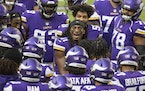 Minnesota Vikings free safety Anthony Harris (41) gets the team ready before a game.