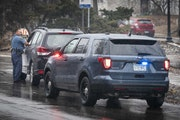 A St. Paul Police officer pulled over a speeding car on Franklin Avenue SE. in 2020. An all-out blitz that started in February has state troopers team