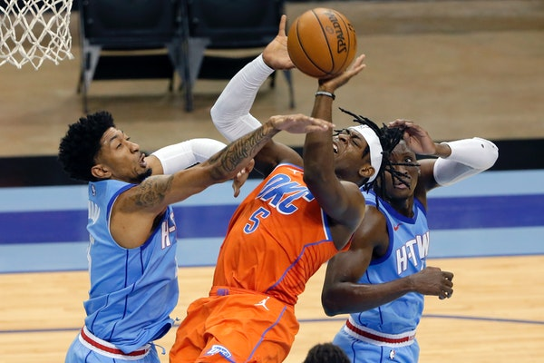Lu Dort scored 23 points for the Thunder against the woeful Rockets on Sunday.