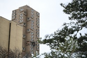 The Cedar High Apartments where a fire left five dead in 2019. AARON LAVINSKY • STAR TRIBUNE