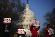 Residents of the District of Columbia rally for statehood near the U.S. Capitol on Monday, March 22, 2021 in Washington, D.C. (Drew Angerer/Getty Imag