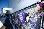 Aaron Lavinsky / Star Tribune The memorial fence in front of Paisley Park in April 2018.