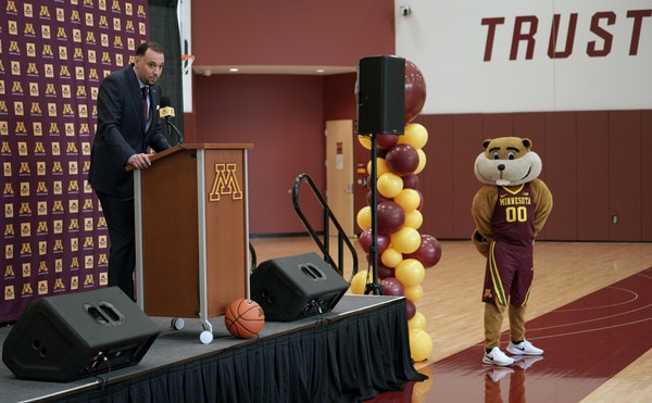 New Gophers men's basketball coach Ben Johnson was introduced to the media at a press conference at the U of M on Tuesday morning.