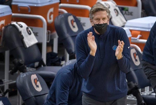 Minnesota Timberwolves head coach Chris Finch.