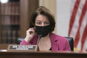 """Senate Rules Committee Chair Amy Klobuchar, D-Minn., holds a hearing on the """"For the People Act,"""" which would expand access to voting and other vo"""