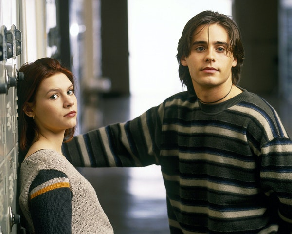"Claire Danes and Jared Leto star as Angela Chase and Jordan Catalanto in the television series ""My So-Called Life."""