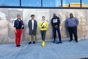 From left, Mica Lee Anders, Noah Lawrence-Holder, Maiya Lea Hartman, Sean Garrison Phillips and Kehayr Brown-Ransaw have received fellowships from the