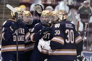 Notre Dame won't get to play in the NCAA tournament because of COVID-19 issues.