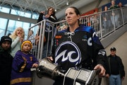 ANTHONY SOUFFLÉ • Star Tribune Whitecaps captain Winny Brodt Brown carried the Isobel Cup after the team's 2019 championship.