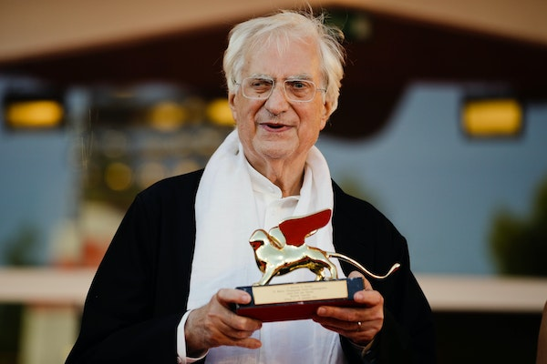 Director Bertrand Tavernier posed with his Golden Lion for Lifetime Achievements at the Venice Film Festival in Venice, Italy, in 2015.