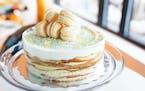Provided  Easter crepe cake from Bellecour Bakery.